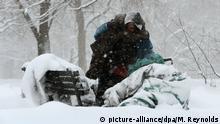 Symbolbild Obdachlose in Eiseskälte