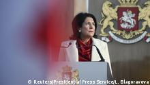 Georgia's first female president Salome Zurabishvili (Reuters/Presidential Press Service/L. Blagoravova)