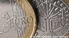 Vorder- und Rückseite einer französischen Euromünze