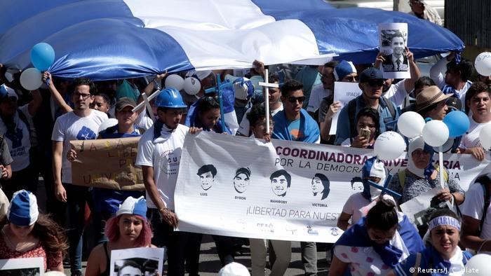 Caravana por la Libertad y la Justicia, de nicaragüenses en el exilio, para protestar contra Daniel Ortega.