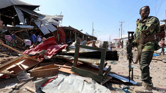 Tatort nach einem Selbstmordanschlag in Mogadischu Ende Novembe