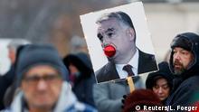 Ungarn Proteste gegen das Sklavengesetzt in Budapest