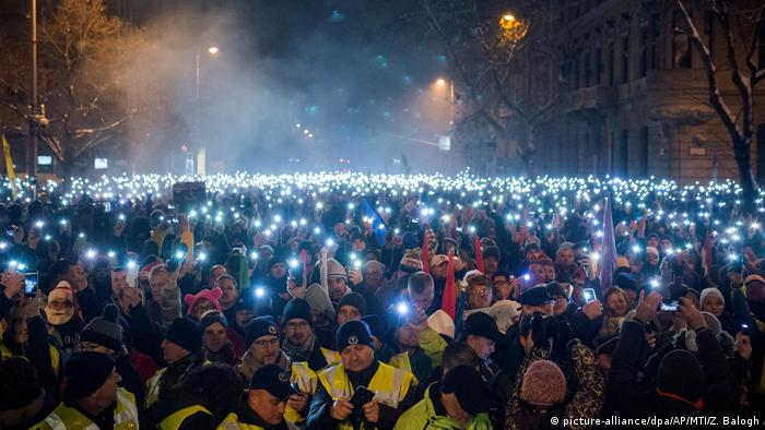 Protest in Budapest