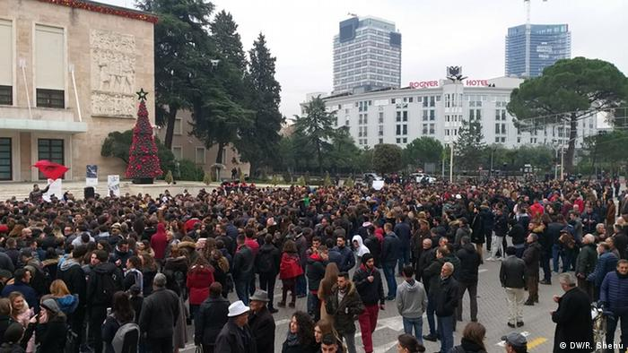 Tirana student protest