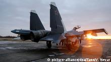 KALININGRAD REGION, RUSSIA - DECEMBER 13, 2016: The Sukhoi Su-30SM fighter aircraft, the first one to join the Russian Navy Baltic Fleet, arrives at the Chernyakhovsk air base. Vitaly Nevar/TASS |