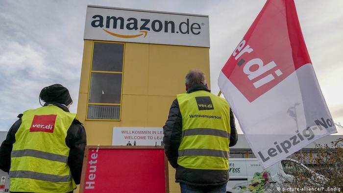 Aksi mogok pekerja Amazon di Leipzig