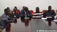 Präsident Guinea-Bissau José Mário Vaz mit Studenten und Lehrkräften