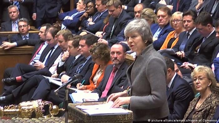 Theresa May addressing the House of Commons (picture-alliance/empics/House of Commons)