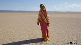 A scene from the film showing Dirie's tortorous flight through the desert