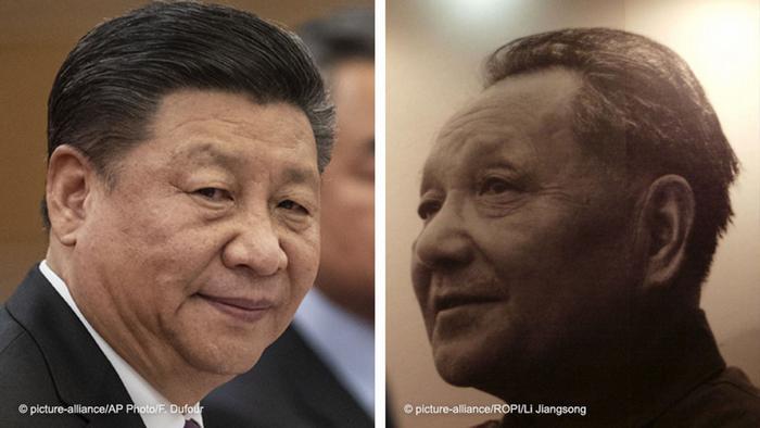 Combo picture Xi Jinping and Deng Xiao Ping