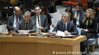 Hashim Thaci u Vijeću sigurnosti