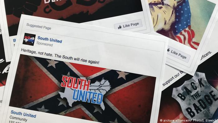 USA russiche Wahlinterferenz in Facebook