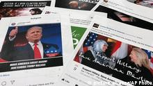 USA russiche Wahlinterferenz in den Social Media