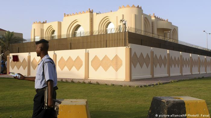 Katar Taliban Büro in Doha (picture-alliance/AP Photo/O. Faisal)