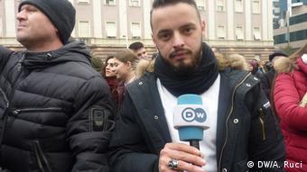 Studenten protestieren in Tirana Albanien (DW/A. Ruci)