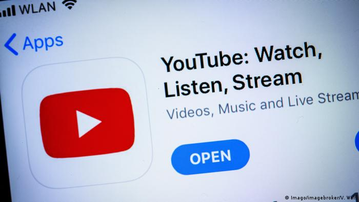 YouTube streaming button