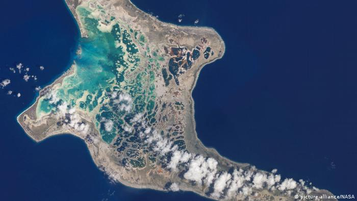 Satellitenbild Kiribati (picture-alliance/NASA)