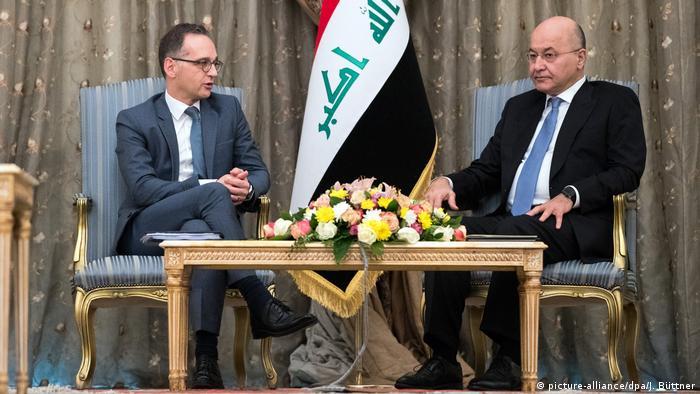 Irak Außenminister Heiko Maas in Bagdad (picture-alliance/dpa/J. Büttner)