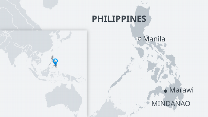 Karte Philippinen Marawi Mindanao EN