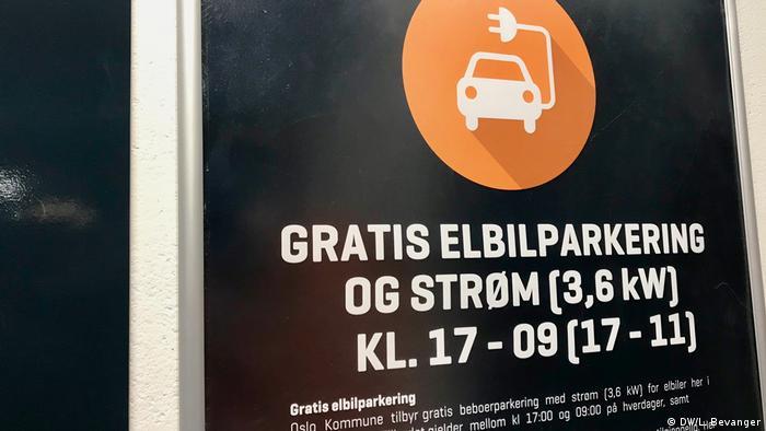 Norwegen, - Öffentliche Kfz-Ladestationen in Oslo sind kostenlos