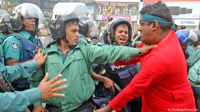 Shahbag movement protest in Bangladesh