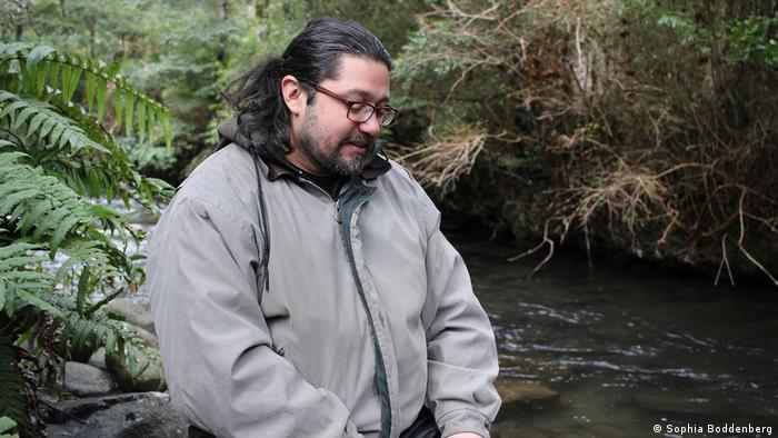 Ruben Collio on a bank of the Manio River
