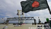 Bangladesch Bau der Padma Bridge in Dhaka