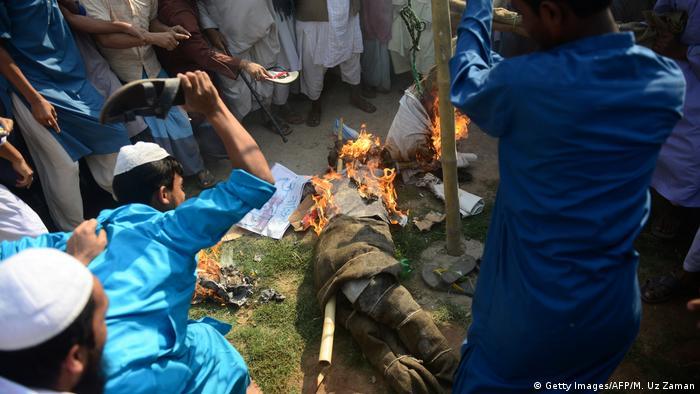 Bangladesch Dhaka Protest von Islamisten