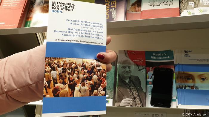 Deutschland Arabische Schrift in Bonn (DW/N.A. Alojayli)