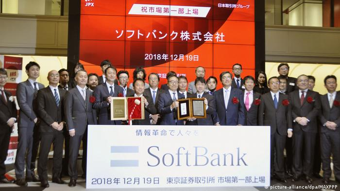 SoftBank debuting in the Tokyo Stock Exchange