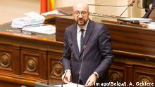 Belgien Brüssel Premierminister Charles Michel im Parlament