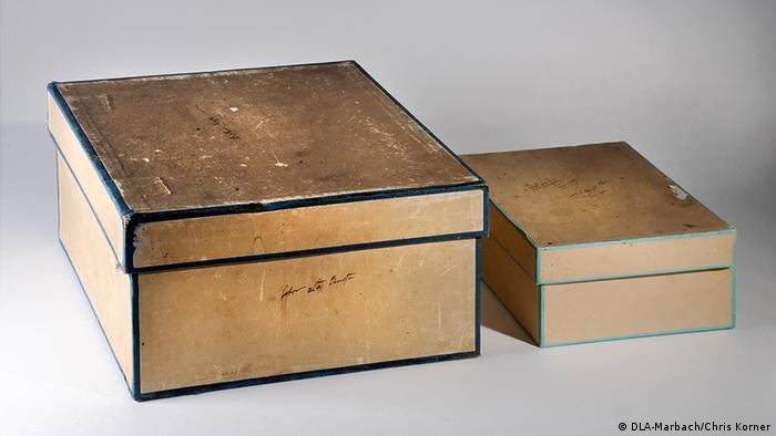 These two boxes which Alexander von Humboldt used to store letter are similar to ones shown in his library that contained his famous travel journals