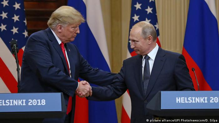 Händedruck Donald Trump Wladimir Putin (picture alliance/UPI Photo/newscom/D. Silpa)
