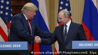 Händedruck Donald Trump Wladimir Putin