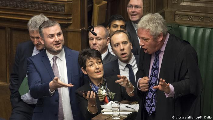 Commons Speaker John Bercow talking to MPs (picture-alliance/M. Duffy)
