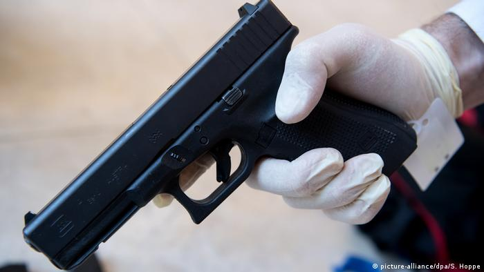 Glock 17 handgun used in a 2016 Munich shooting rampage carried out by David S.