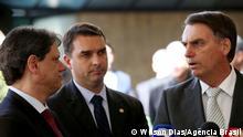 Tarcisio Gomes de Freitas, Flavio Bolsonaro und Jair Bolsonaro