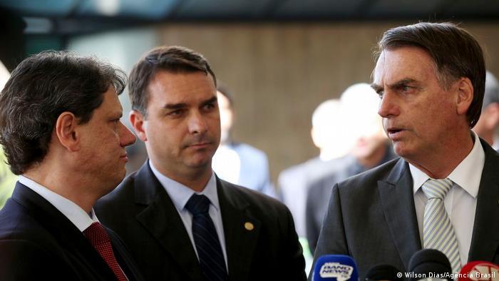 Tarcisio Gomes de Freitas, Flávio Bolsonaro e Jair Bolsonaro