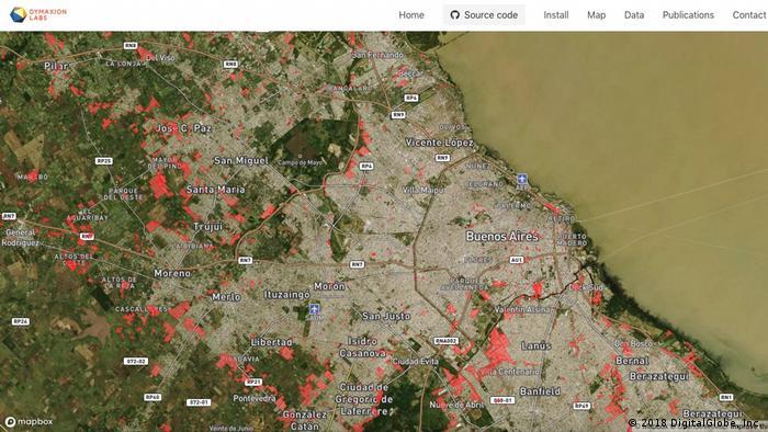 Informelle Siedlungen Südamerika Argentinien Buenos Aires (2018 DigitalGlobe, Inc.)