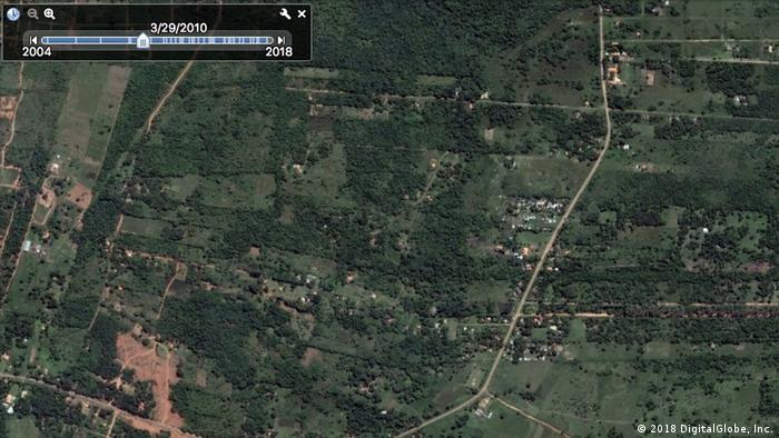 Informelle Siedlungen Südamerika Paraguay Asuncion (2018 DigitalGlobe, Inc.)
