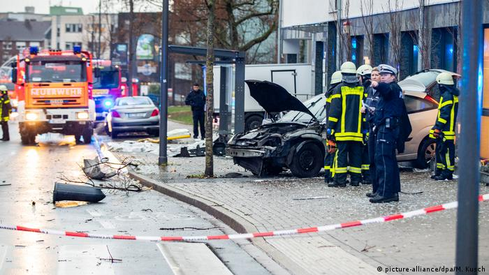 Driver plows car into pedestrians at German bus stop, killing one