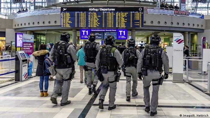 German police at Stuttgart airport