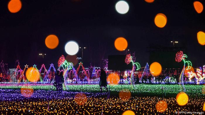 BdTD Bild des Tages Deutsch Lichtinstallation in China