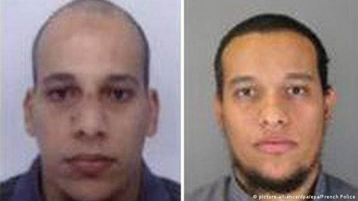 Mugshots of Charlie Hebdo attackers Cherif and Said Kouachi
