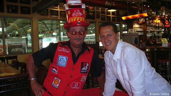 Райнер Ферлинг и Михаэль Шумахер: во время одной из встреч в Керпене