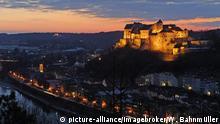 Deutschland Burg über Altstadt in Burghausen
