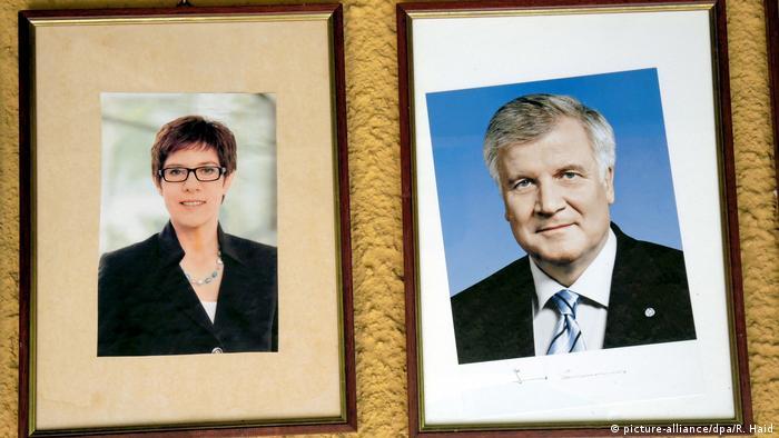 Председатель ХДС Аннегрет Крамп-Карренбауэр и председатель ХСС Хорст Зеехофер