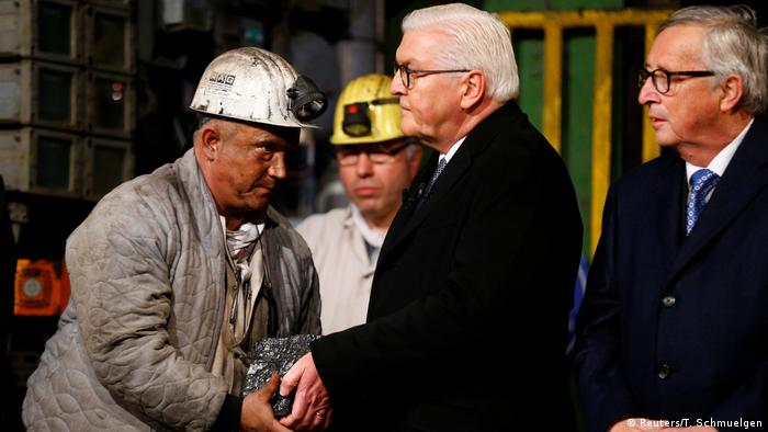 Президент Штайнмайер на церемонии закрытия шахты в Ботропе