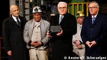 Deutschland Zeche Prosper-Haniel | Übergabe letztes Stück Steinkohle an Bundespräsident Steinmeier