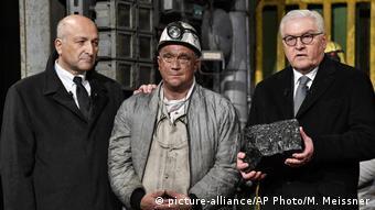 Франк-Вальтер Штайнмайер на церемонии закрытия последней шахты